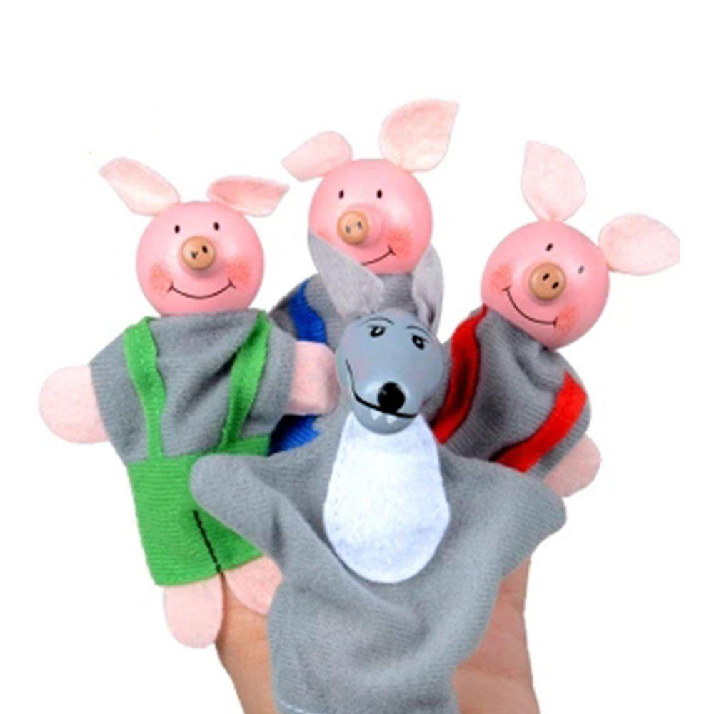 Cartoon Pig Finger Toy 4PCS - multicolor A