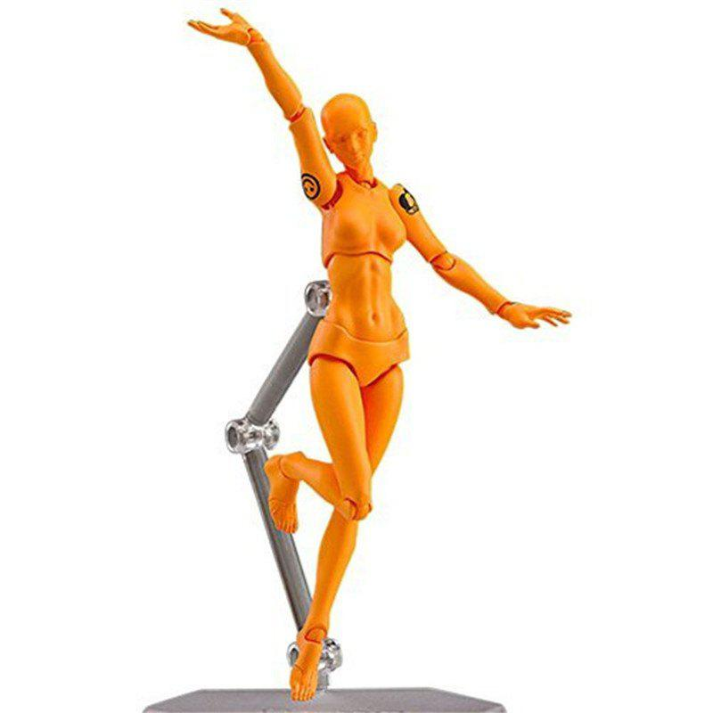 13cm Toy Action Figure Doll - ORANGE