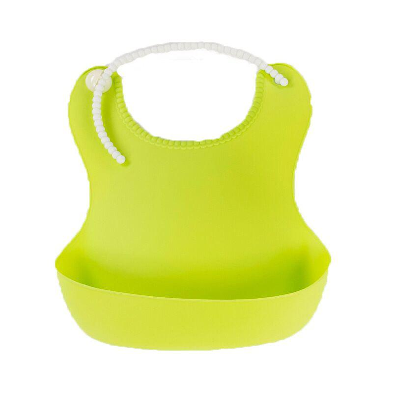 Baby Soft Silicone Caulk Bib - GREEN YELLOW