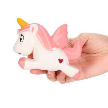 Unicorn Jumbo Squishy Slow Rising Cartoon Doll Squeeze Toy Collectibles - PINK