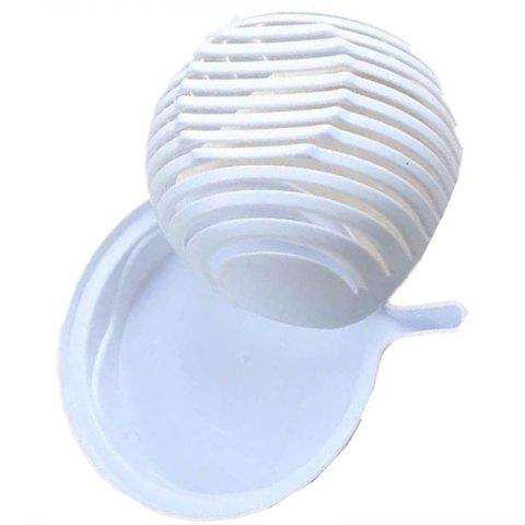 Set 60 Seconds Salad Cutting Bowl for Fruit Vegetables Kitchen Tool - WHITE