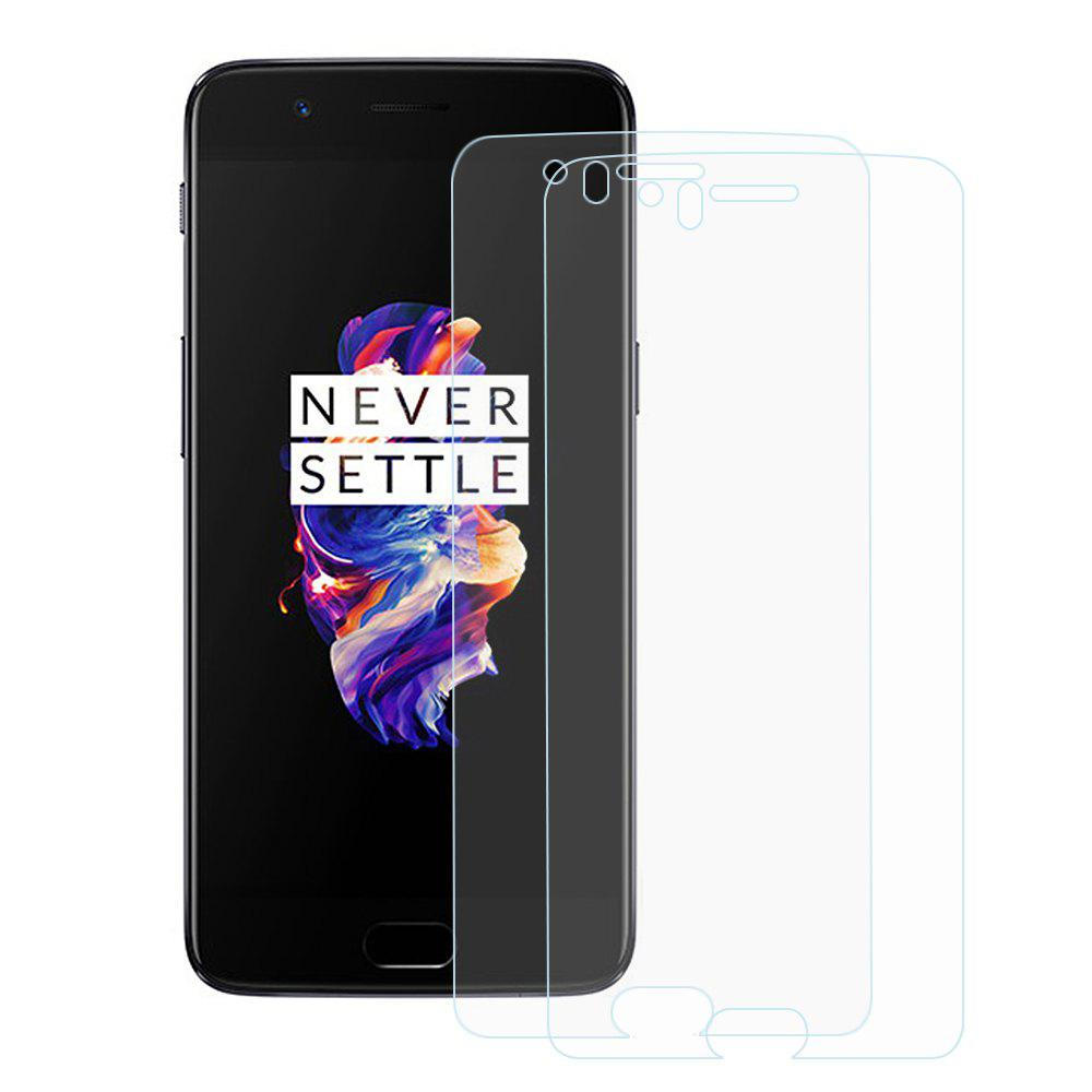 2pcs 2.5D 9H Hardness Tempered Glass Screen Protector for OnePlus 5 - TRANSPARENT