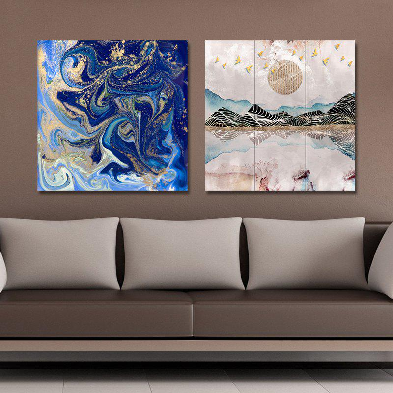 41XDZS - 30-58 2PCS Abstract Scenery of Fashion Print Art - multicolor 30 X 30CM X 2