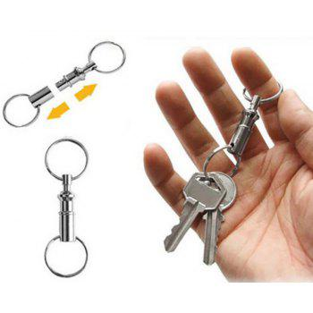 2PCS Outdoor Double Side Detachable Key Ring - SILVER
