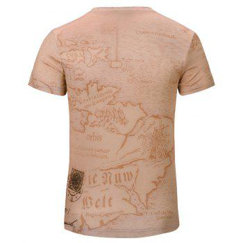 3D Stylish New Limo Men's V-Collar Short-Sleeved T-shirt - CHAMPAGNE S