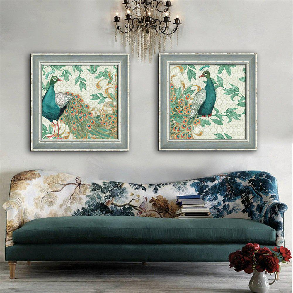 Special Design Frame Paintings Peacock Print 2PCS управляемый светодиодный светильник estares n l o 40w rgb r 450 white 220v ip44