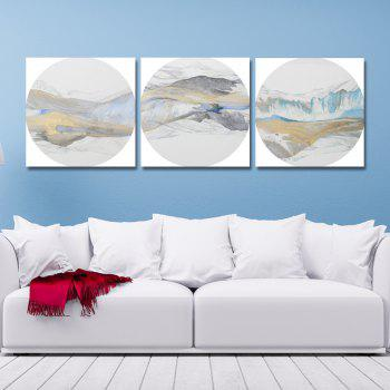 41XDZS - 157-158-161 3PCS Chinese Abstract Scenery Print Art - multicolor 30 X 30CM X 3
