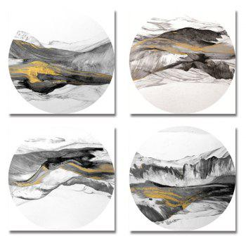 41XDZS - 169-170-172-173 4PCS Chinese Abstract Scenery Print Art - multicolor 30 X 30CM X 4