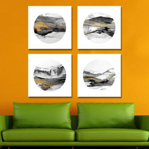 41XDZS - 174-175-176-177 4PCS Chinese Abstract Scenery Print Art - multicolor 30 X 30CM X 4