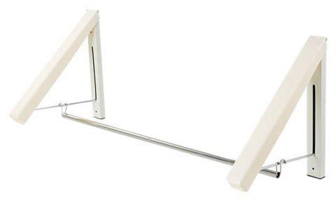 Wall Hanging Retractable Magic Clothes Hanger - WHITE