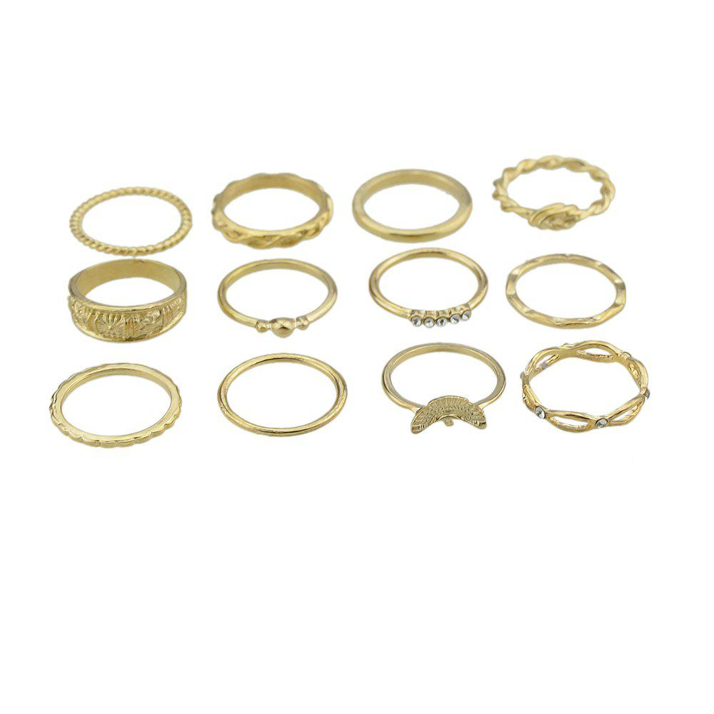 Bohemia Gold-Color Knuckle Ring Set