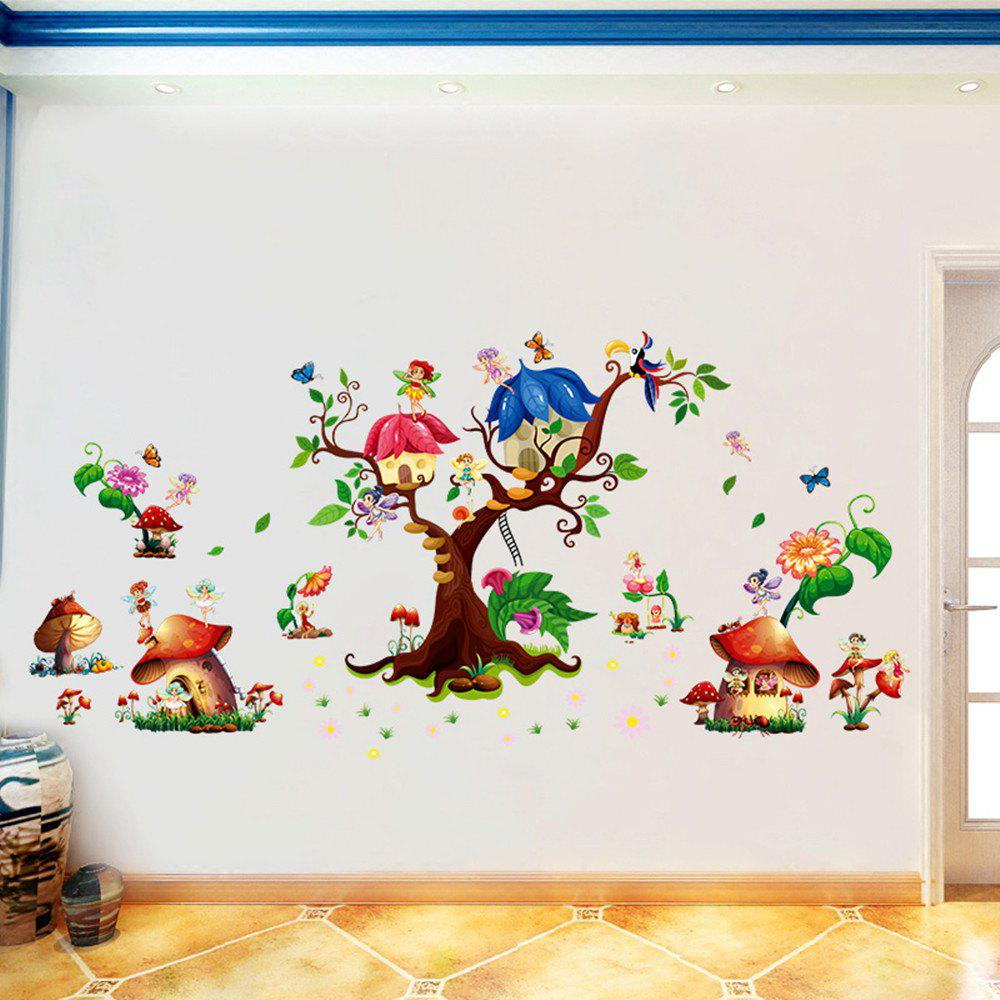 3D Cartoon Wall Stickers Creative New Flower Decoration - multicolor