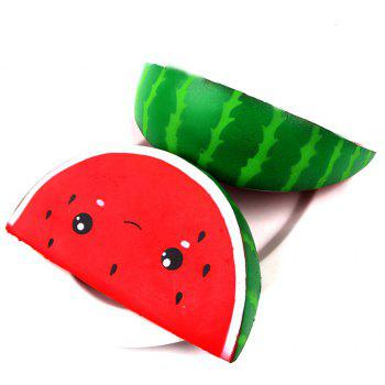 Jumbo Squishy Watermelon Squeeze Super Slow Rising Funny Toy - RED