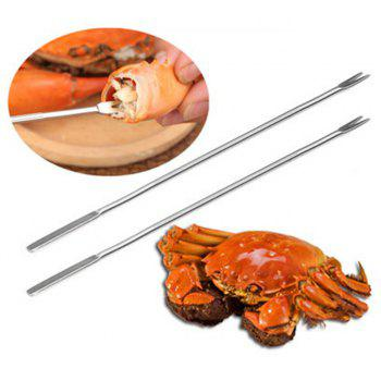 3 Pcs Seafood Stainless Steel Pin Kitchen Tools - SILVER