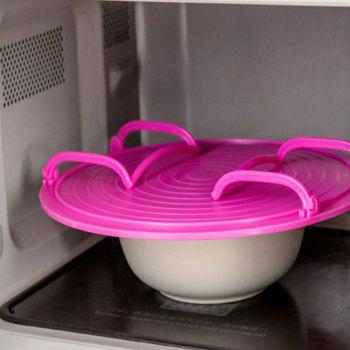 Kitchen Microwave Oven Shelf Bowls Layered Disc Tray Rack - HOT PINK