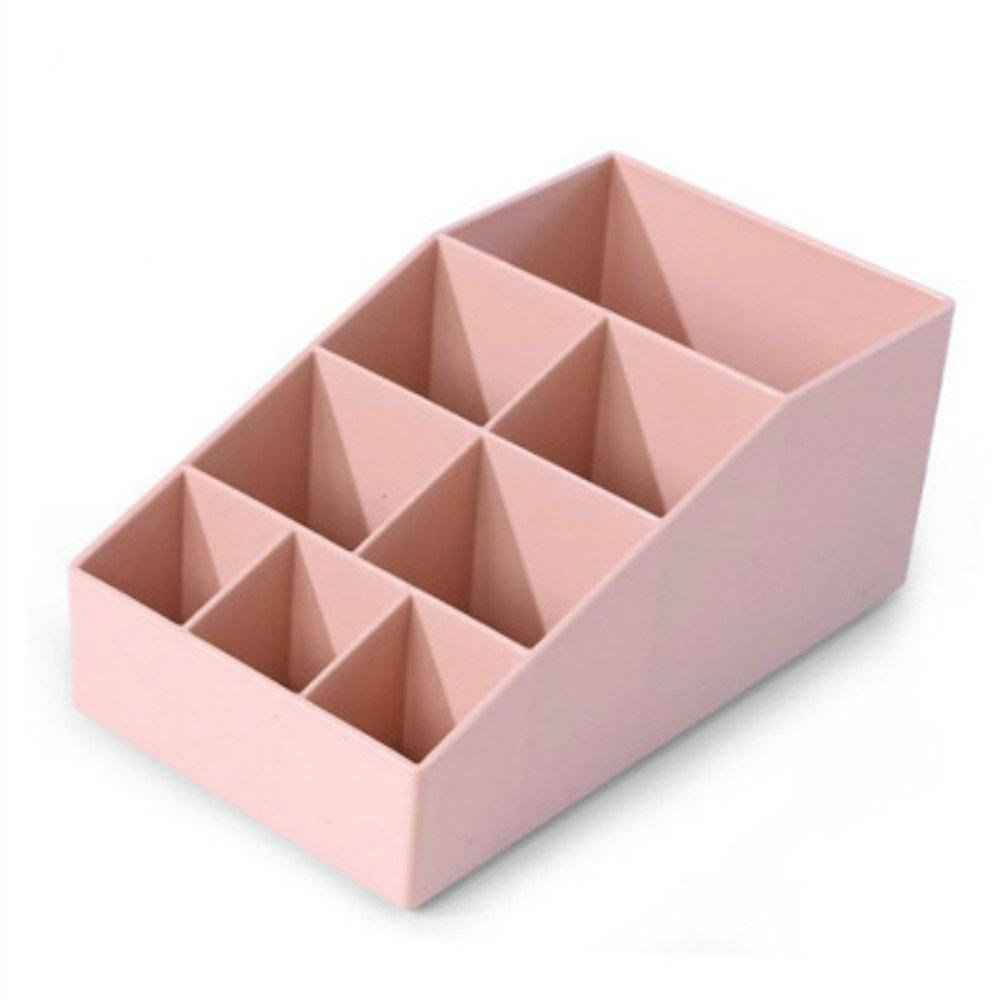 Creative Home 8 Grid Table Dresser Storage Box - PINK