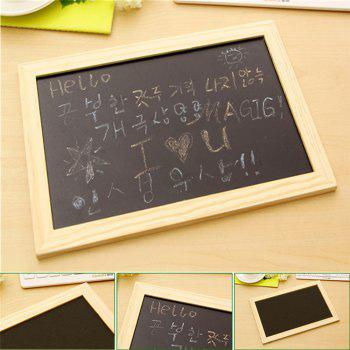 Creative Crafts Wooden Frame Blackboard Writing and Decorating - BLACK