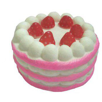 Jumbo Squishy Slow Rising Stress Relief Toy Strawberry Cake - PIG PINK