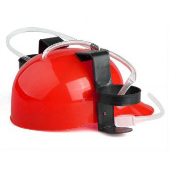 Creative Lazy Drink Beer Drinking Beverage Helmet - RED