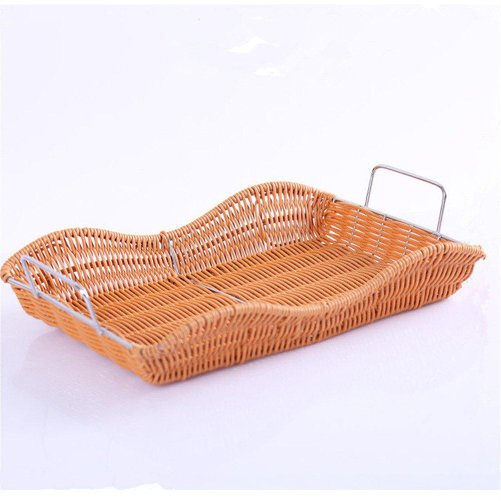 Creative Woven Fruit and Vegetable Basket - LIGHT BROWN