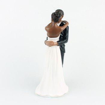 New Style Love Each Other All Life Black Couple Decoration - NATURAL BLACK