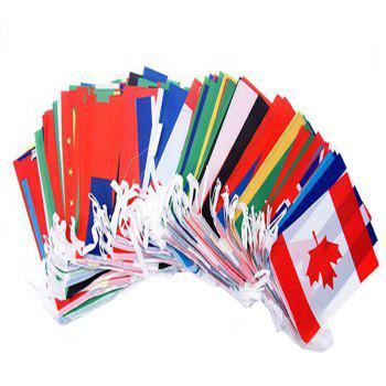 Football Fans 32pcs Hang String Flag - multicolor A