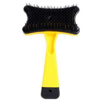Pet Cleaning Products Dog Cat Grooming and Beauty Massage Tun Hair Comb - YELLOW