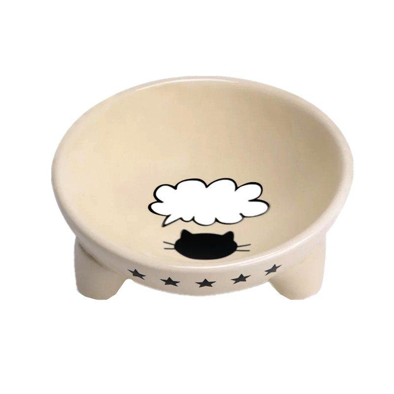 Pet Supplies Round Ceramic Bowl for Dog Cat Small Pets dog puppy pet cat rope for small pets cute leash