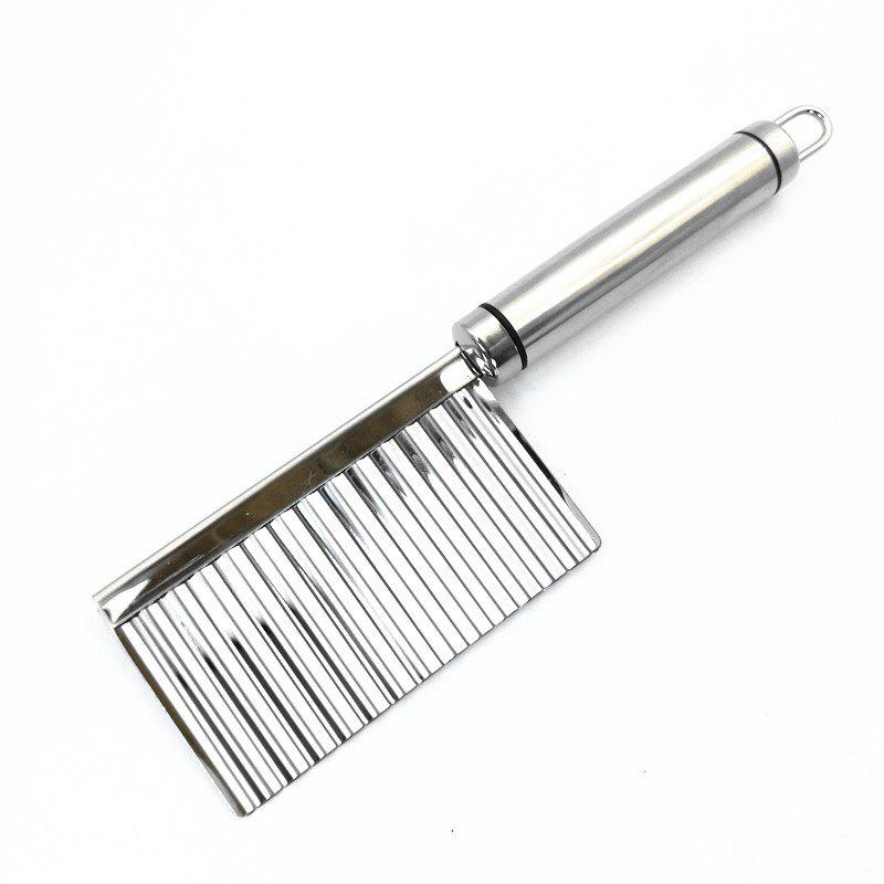Stainless Steel French Fries Cutter Peeler Chip DIY Fry Potato Blade - SILVER
