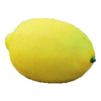 Jumbo Squishy PU Slow Rebound Fruit Simulation Yellow Lemon Decompression Toy 1PC - YELLOW