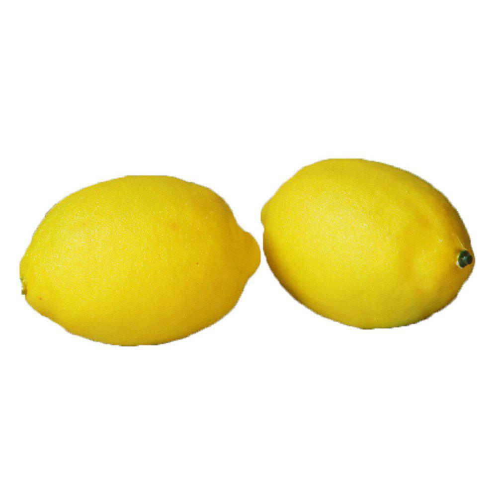 Jumbo Squishy PU Slow Rebound Fruit Simulation Yellow Lemon Decompression Toy 1PC realistic pineapple pu foam fruit squishy toy