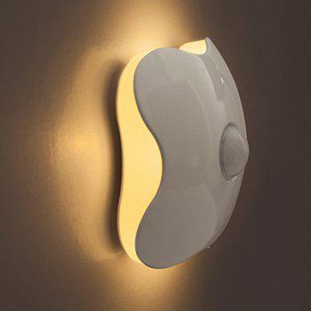 Clover Human Induction Lamp Battery Intelligent Light Control Nightlight - WHITE