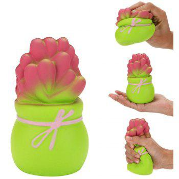 Plant Jumbo Squishy Slow Rising Cartoon Doll Squeeze Toy Collectibles - GREEN