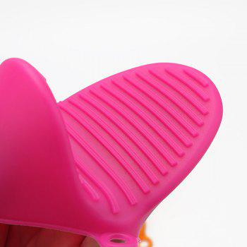 Heat Resistant Silicone Glove - Thicken Food Grade Silicone Anti-Hot Gloves Bowl - ROSE RED