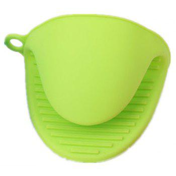 Heat Resistant Silicone Glove - Thicken Food Grade Silicone Anti-Hot Gloves Bowl - PISTACHIO GREEN