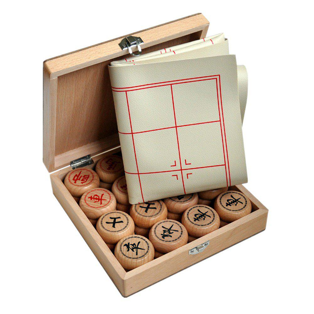 Chinese Chess Leather Board Wooden Gift Box Puzzle Board Game toy fishing rods fish magnetic game board wooden puzzle