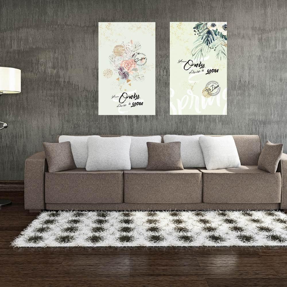 Фото W185 Plants Unframed Wall Art Canvas Prints for Home Decoration 2PCS family wall quote removable wall stickers home decal art mural