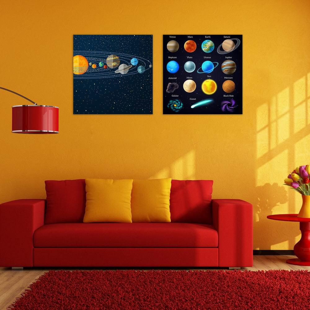 2018 W190 Planets Unframed Wall Canvas Prints for Home Decorations 2 ...