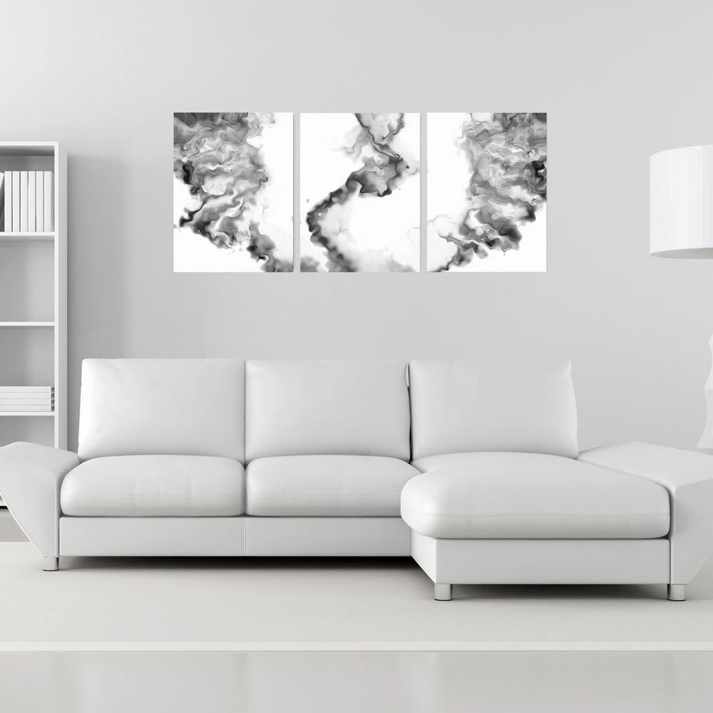 Фото W191 Smoke Unframed Wall Art Canvas Prints for Home Decoration 2PCS family wall quote removable wall stickers home decal art mural