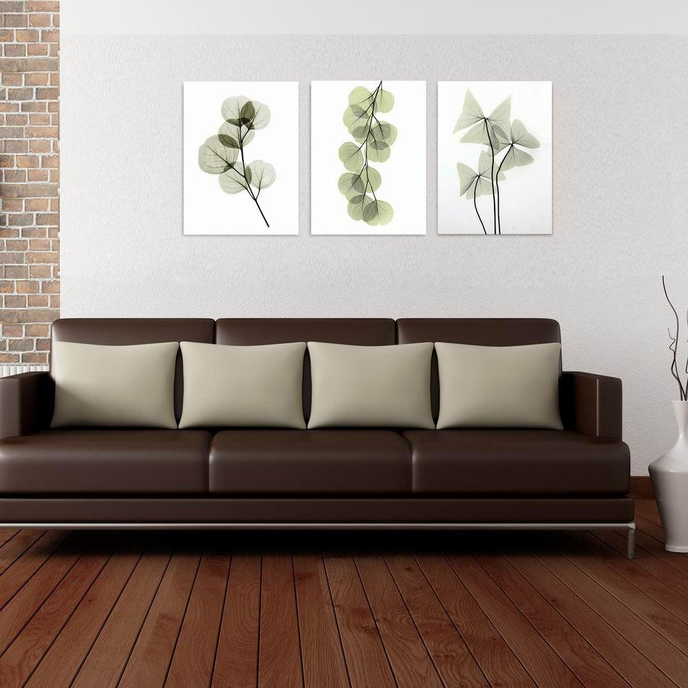 цены W192 Plants Unframed Wall Art Canvas Prints for Home Decoration 3PCS