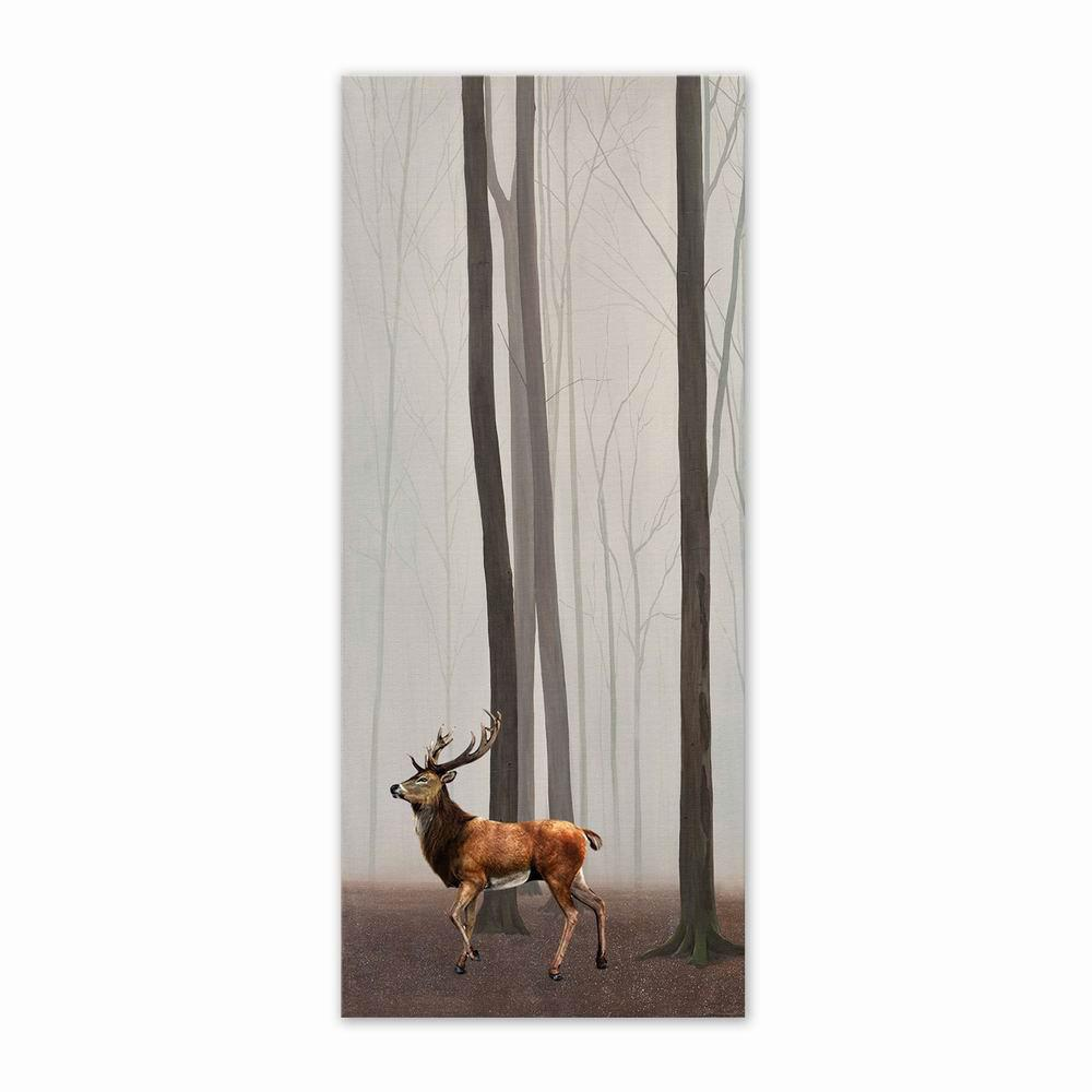W193 Forest and Deer Unframed Wall Art Canvas Prints for Home Decoration family wall quote removable wall stickers home decal art mural