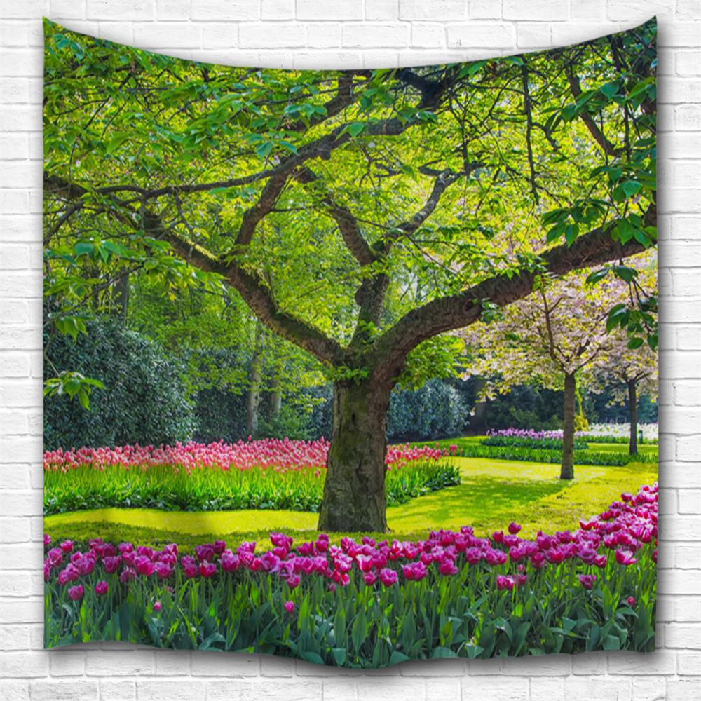 Flowers and Trees 3D Printing Home Wall Hanging Tapestry for Decoration colorful trees 3d printing home wall hanging tapestry for decoration