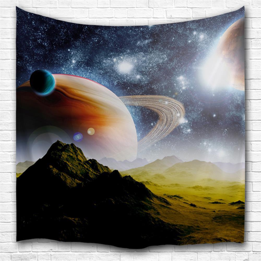 Alien Hills 3D Printing Home Wall Hanging Tapestry for Decoration space shark 3d printing home wall hanging tapestry for decoration