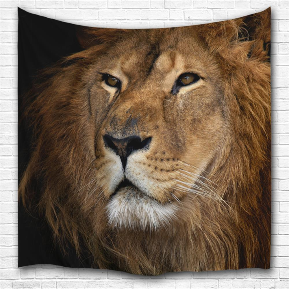 Melancholy Lion 3D Printing Home Wall Hanging Tapestry for Decoration space shark 3d printing home wall hanging tapestry for decoration