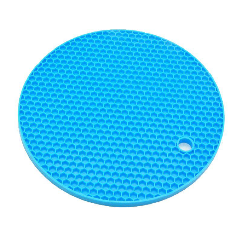 Heat Insulation Silicone Honeycomb Waterproof Non-slip Cup Mat unique disk style silicone heat insulation cup pads blue black 2 pcs