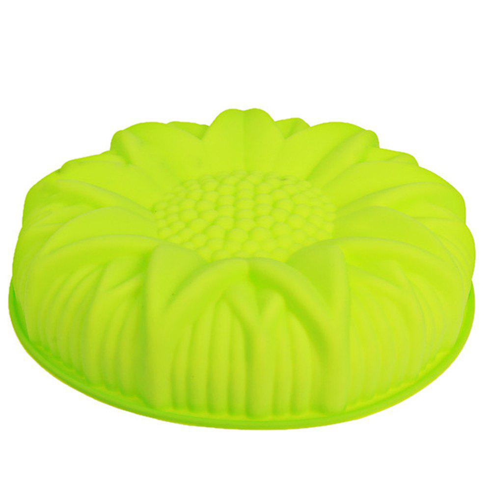 Big Sunflower Silicone Cake Mold 6 sunflower style silicone diy mold for cake and more green