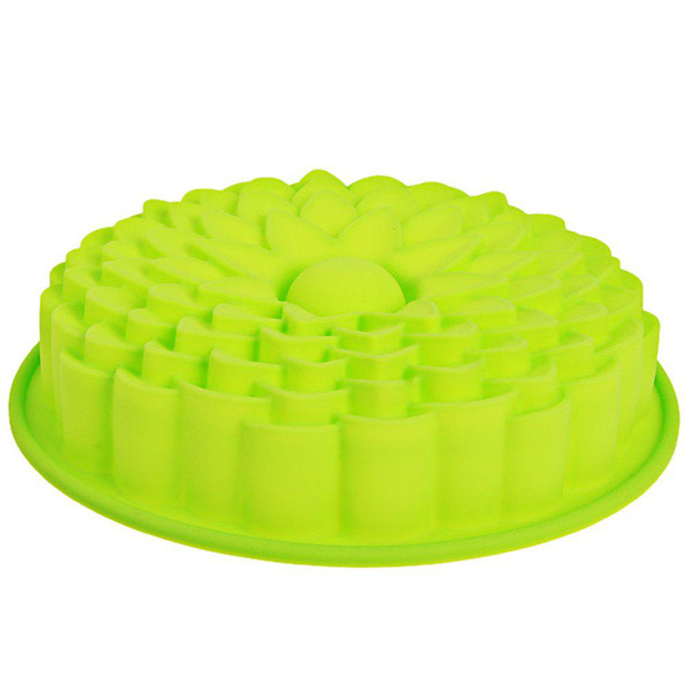 Sunflower Silicone Cake Mold 6 sunflower style silicone diy mold for cake and more green