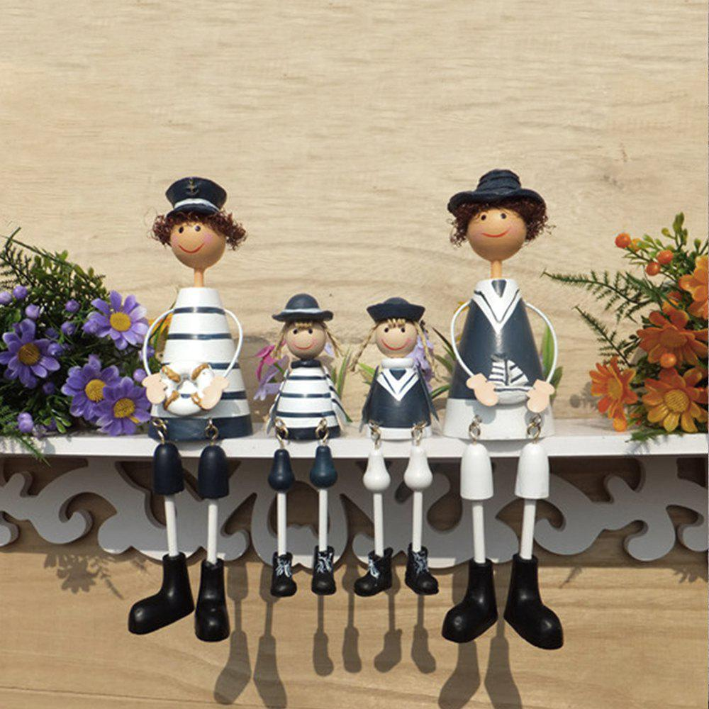 WX-C31-031901 Home Accessories Wrought Iron Navy Doll Ornament
