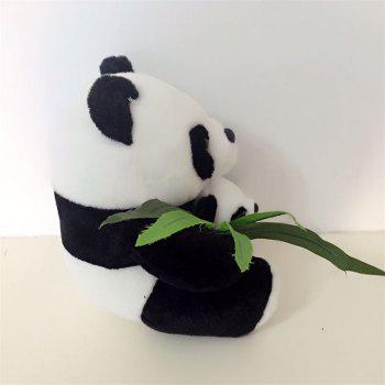 Bamboo Leaf Mother and Mother Panda Plush Toy Wedding Doll - multicolor A