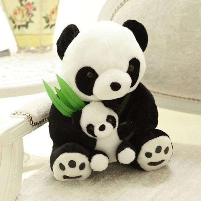 Bamboo Leaf Mother and Mother Panda Plush Toy Wedding Doll new hot sale miraculous ladybug and cat noir juguetes toy doll lady bug adrien marinette plagg tikki plush doll